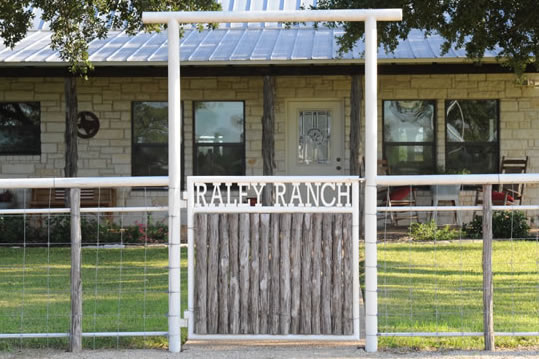 Custom Entrance Gate Metal Pipe - Crawford, Texas